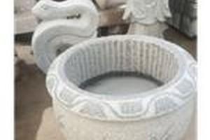 石雕 花盆