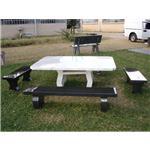 山西黑石桌石椅1