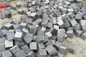 长泰芝麻黑自然面小方块章丘黑小料石地铺石G654价格