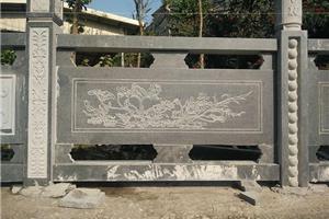 芝麻黑花岗岩栏杆G654黑色麻石栏杆桥栏