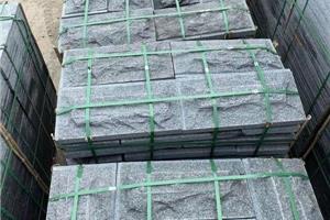 钟山青蘑菇石广西黑花岗岩新矿654石材自然面文化石背景墙