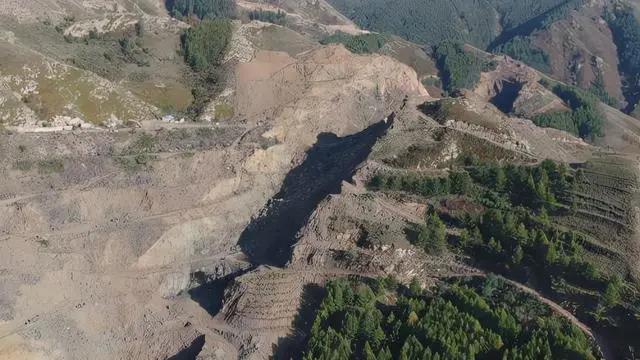 大同一石材廠毀山采石被舉報,鄉政府:系礦山治理,石材廠具有相關資質!